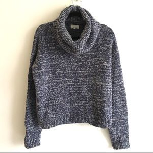 LOU & GREY Wool Cowl Neck Chunky Knit Sweater L